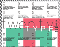 Twenty Type Rules