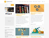 Blog Left Sidebar - Cryptocurrency WordPress Theme