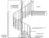 Spiral Staircase Detail Drawings - AutoCAD