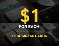 Business Cards Deal - 20 Cards for $20