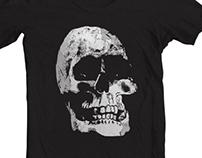 Grunge Cool Skull T-Shirt Design