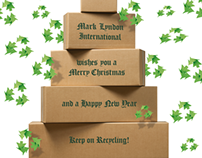 Christmascard Mark Lyndon paper-recycling
