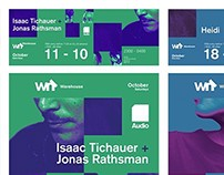 Audio Brighton - October posters