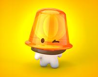 Piska - Alerta Positivo Mascot