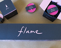 flame scented candle packaging