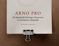 Arno typeface booklet