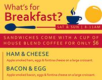 Mandola's Breakfast and Lunch Menus