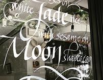 Writing on glass window