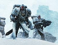 Black Templars securing a drop zone