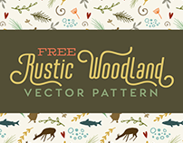 Free Rustic Woodland Vector Pattern