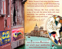 Trattoria Lisina's Carnevale Promotional Posters