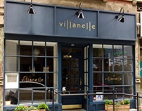 Sign painting for the NYC restaurant, Villanelle.