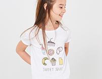 Cute t-shirts, basic collection Reserved Kids