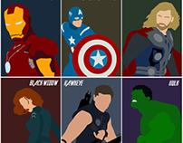 Marvel Avenges Minimal Posters