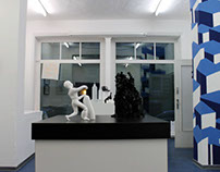 solo show at affenfaust gallery