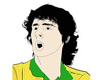 Ilustração digital tema: torcedor seleção brasileira