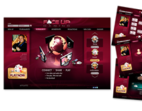 Website design, Face Up Gaming