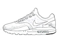 Product Sketch/ For Nike Airmax Day/Nike ZERO in 9