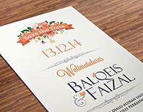 FAIZAL & BALQEIS WEDDING CARD
