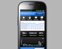 Mobile app idea layout mockup