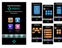 Kiosk user interface design, Merck
