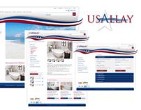 Website and logo design, USAllay