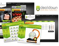 Website and logo design, DealDown