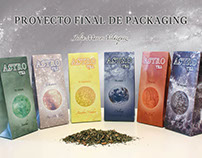 Astro. Diseño de packaging para línea de té