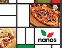 Nanos Pizza poster ad