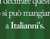 Italliani's poster ad