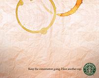 Starbucks poster ad