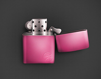 Dribbble Lighter - Vector Design