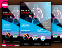 Fitness Gym Flyer PSD
