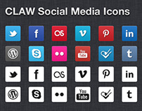 Claw Social Media Icons