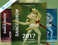 Dance Show Flyer PSD Template