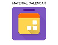 Calendar Icon using Material Design