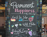 Chalkboard Illustrations for Bar Louie