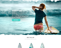 Concept for surfboard landing page