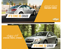 Chevrolet Social Media and Infographics concept