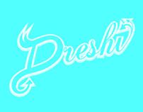 """Dreshi"" typo stylized"