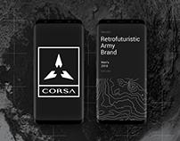 CORSA - retrofuturistic army brand