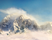 Snowy Mountains Matte Painting