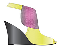 Contemporary Shoes- Detailed Technical Sketches