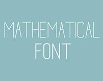 Mathematical Free Font