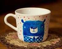 Mug with bears