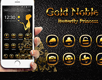 Luxury gold butterfly free Theme