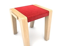 Project No.4 / Wood and Felt Stool