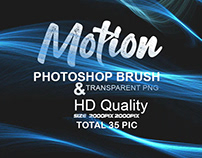 Abstract Motion Brush and PNG