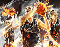 Townsville Fire - WNBL launch poster