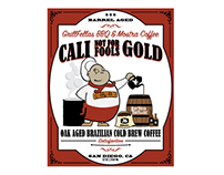 Cali Gold Cold Brewed Coffee Label